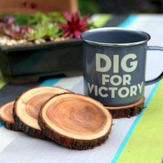 Love These! Definitely want to make! ~Tutorial on how to turn fallen branches into gorgeous natural coasters.