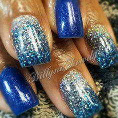 Blue Rockstar Nails