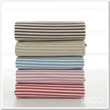 2 Stück 140*50 cm 100% Baumwolle bedruckten Stoff hohe Qualität 5 Farbe Streifen Leinen Baumwolle Stoff Für Zakka DIY handgemachte Vorhang Bettwäsche(China (Mainland))
