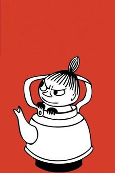 Little My from Moomin by Tove Marika Jansson Little My Moomin, Moomin Wallpaper, Iphone Wallpaper, Cartoon Drawings, My Drawings, Moomin Tattoo, Moomin Valley, Tove Jansson, Little Doll
