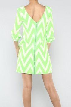 Lime Green Chevron Dress