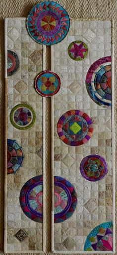 art quilts: circles and curves on Pinterest | Circle Quilts, Art ...