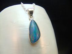 Australian Opal Triplet Sterling Silver by WelshHillsJewellery