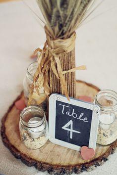 Samantha Elizabeth: Rustic Country Wedding Centerpieces  | followpics.co