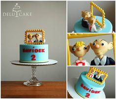 Spejbl a Hurvínek by DELU CAKE  #spejbl #hurvínek #dort #obraz #cake #frame #painting #sweet #fondant