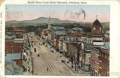 North Street from Hotel Wendell Pittsfield Massachusetts