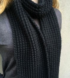Broken Rib Unisex Knit Scarf Pattern