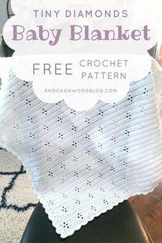 Knock on Wood: Tiny Diamonds Baby Blanket Pattern