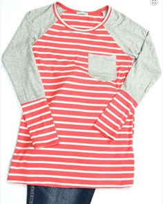 Georgie Striped Raglan