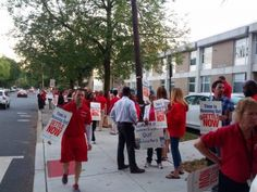 More than 60 school district workers came early to Wednesday night's board of education meeting and demonstrated outside Plainfield High School to protest the familiar problem of not having a union contract.Read more →