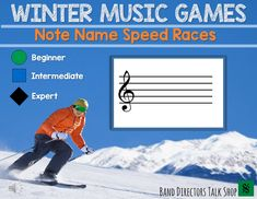 Piano Lessons On Video This automated winter music game will keep your music students excited about music reading practice! They will master the notes on the lines and spaces of the music staff in no time! Both treble clef Music Games, Music Theory Games, Music Math, Music Education Games, Music Theory Worksheets, Music Activities, Music Classroom, Rhythm Games, Music Teachers