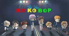 "100 lượt thích, 3 bình luận - Exo Fanart Page (@exo__fanart) trên Instagram: ""EXO #exo #fanart #exofanart #kokobop #thewar #comeback  Cr.RomeOXE"""