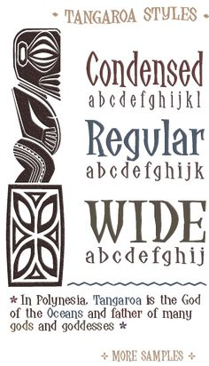 """Tangaroa"" font. Great for scrapbooking Tiki Room, Dole Whip, Polynesian Resort, Tangaroa Terrace. See Dole Whip layouts here: http://mousescrappers.com/forums/showthread.php?t=3144 Luau party invitations"