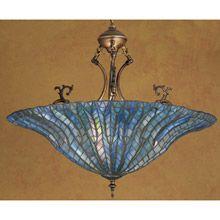 Meyda 30993 Tiffany Lotus Leaf Inverted Hanging Lamp