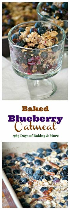 This Baked Blueberry Oatmeal with oats, pecans, cinnamon, milk, honey and blueberries is the perfect for a chilly winter's day. Don't go stovetop, bake it!