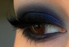 navy blue smoky eye.