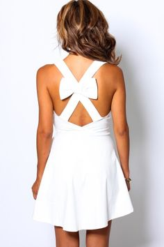 CROSS BOW FLARE DRESS