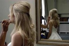 bridal hairstyles long straight hair with veil - Google Search