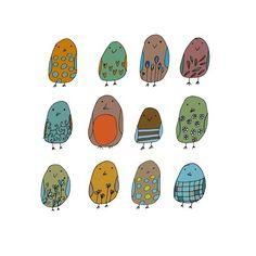 鸟鸟~,How to Draw Birds, Artist Study Resources for Art Students, CAPI ::: Create Art Portfolio Ideas at milliande.com , Inspiration for Art School Portfolio Work, Food, Drawing Food, Sketching, Painting, Art Journal, Journaling, illustration,birds, owls, cute, kawaii