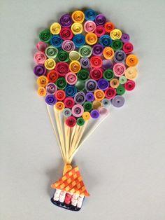 Quilled Hot Air Balloon Adventure. $50.00, via Etsy.