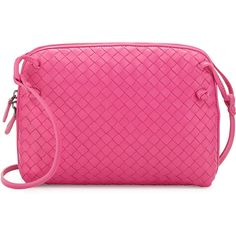 Bottega Veneta Veneta Small Messenger Bag, Hot Pink