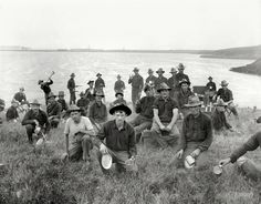 """71st New York Regiment Circa 1898. """"Boys of the 71st N.Y. at Montauk Point after returning from Cuba."""""""