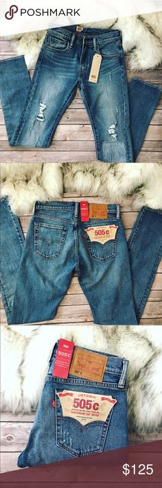 💗Levi's 505c vintage straight leg jeans💗 Levi's 505 c vintage straight leg jeans in size 27, inseam is 34 inch, rise 10 inch and waist is 31 inch. New with tags Levi's Jeans Straight Leg