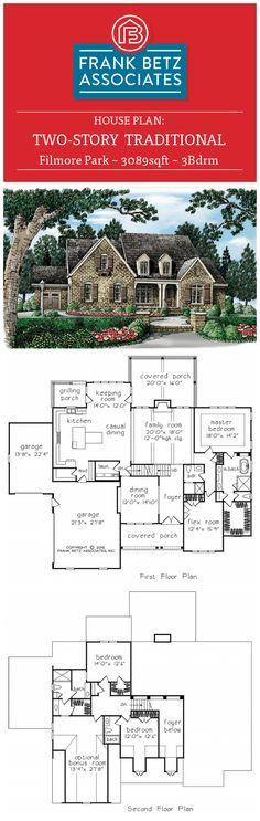Filmore Park - 3089sqft, 3bdrm, two story, traditional Frank Betz house plan