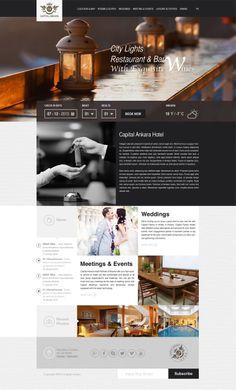 Hotel Web Site Concept by Beyaz Polycarp