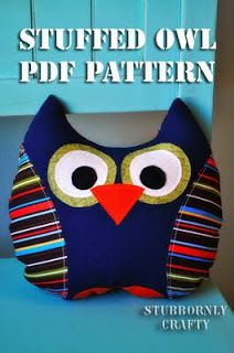 Stuffed Owl PDF Pattern - Stubbornly Crafty