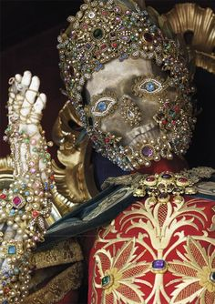 prawn-blog:  Skeletons of Saints in luxurious clothes and real...