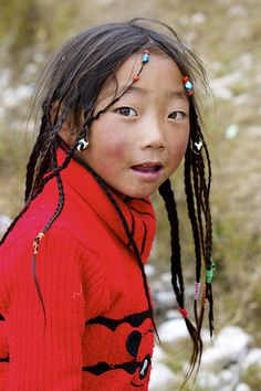 Travel Asian girl Tibet