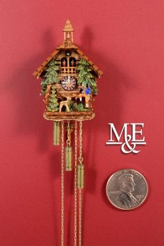 Hey, I found this really awesome Etsy listing at https://www.etsy.com/listing/187063384/miniature-cuckoo-clock-pines