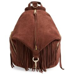Rebecca Minkoff 'Julian' Backpack with Fringe ($395) ❤ liked on Polyvore