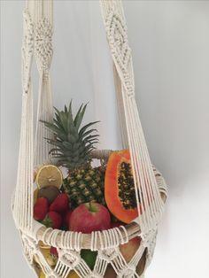 Macrame Hanging Fruit Bowl www.oceannomadaustralia.com.au #macrame