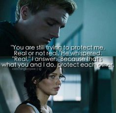 Katniss and Peeta • Mockingjay Quote • This makes me want to cry :.(