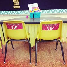 What a fun VIP area in @sarahmschoon 's classroom. Students earn tickets to sit…