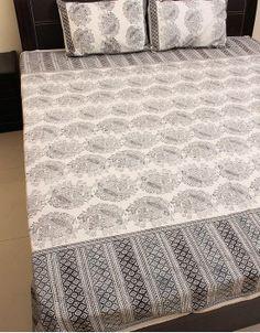 Hand Block Print Double Bedsheet-83