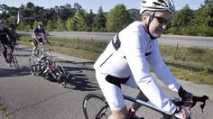 Robin Williams during a charity bike ride in 2010, in Marin, Calif.......
