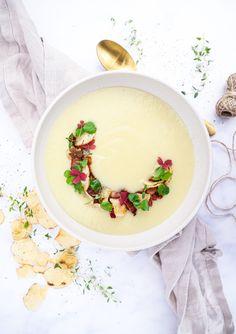 Hummus, Cantaloupe, Bacon, Dinner, Fruit, Ethnic Recipes, Food, Beautiful, Cooking