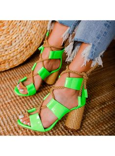 Women Pumps Gladiator Leather High Round Heel Open Toe Lace Up Party Wedding Shoes Platform Ladies Sandals Sapato Feminino Lace Up High Heels, Lace Up Sandals, Ladies Sandals, Peep Toe Heels, Suede Heels, Wedding Shoes, Party Wedding, Women's Pumps, Casual