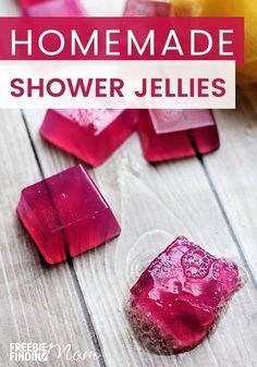 Are you a fan of Lush shower jellies? Here you will learn how to make an easy shower jellies recipe that is inspired by these popular shower jellies sold in stores. You'll need just a handful of ingredients, most of which you likely already have at home. Shower Jellies Diy, Lush Shower Jelly, Bath Jellies, Homemade Soap Recipes, Homemade Gifts, Homemade Things, Diy Gifts, Diy Cosmetic, Diy Savon