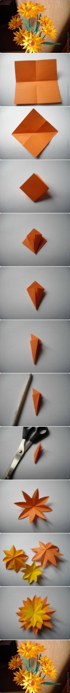 DIY Paper Marigold Flower DIY Projects | UsefulDIY.com