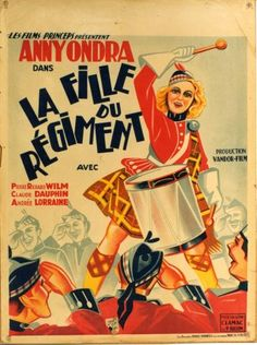 Die Tochter des Regiments - La fille du régiment - Vintage movie poster