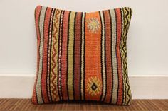 Decorative Kilim pillow cover 12 x 12 Vintage by kilimwarehouse, $37.00