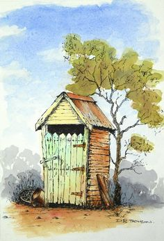 pen and watercolor techniques Watercolor Barns, Watercolor Architecture, Pen And Watercolor, Watercolor Landscape, Landscape Paintings, Watercolor Paintings, Watercolours, Landscapes, Watercolor Techniques