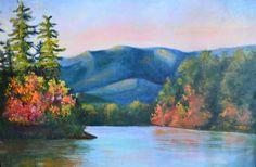 Fall Spotlight Acrylic painting by Bonnie Ferguson