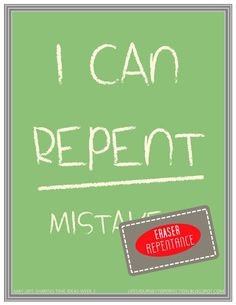 LDS Sharing Time Ideas for May 2015 Week 2: I can repent.