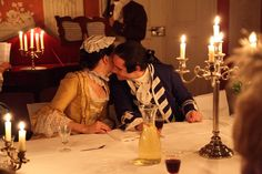 Secret by Weinglasarien.deviantart.com on @deviantART - This photo shows really well how things would have looked in the 18th century in the wealthier houses where nighttime entertainments continued with extensive candlelight.
