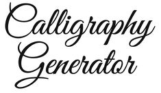 Free Online Calligraphy Generator (Windows, Mac, iPad) — Rapid Resizer: Print Full-Size Arts & Crafts Patterns
